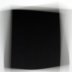 « Fading Icons (d'après «Carré noir sur fond blanc» de 1913, «Croix noire » et «Carré noir sur fond blanc » de 1923, de Kasimir Malévitch) », élément de gauche