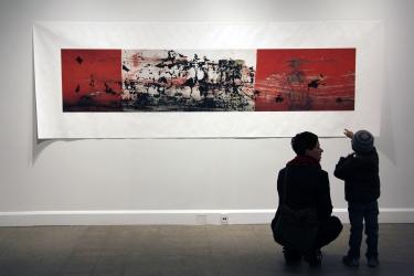 «Élégie #11 », salle principale de l'exposition «Isoler - rassembler - dissoudre », Langage plus, Alma, 2014