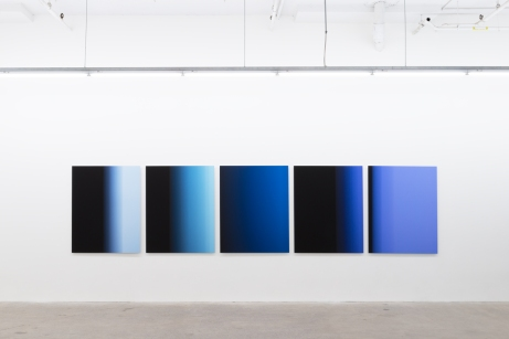 «9.9 secondes», 2016, photographie (impression à jet d'encre sur papier chiffon montée sur aluminium), 5 éléments de 125 x 100 cm