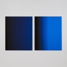 """""""4,6 secondes, version 2"""", 2017, impressions à jet d'encre sur papier chiffon montées sur aluminium (photographie), 2 éléments de 125 x 100 cm"""