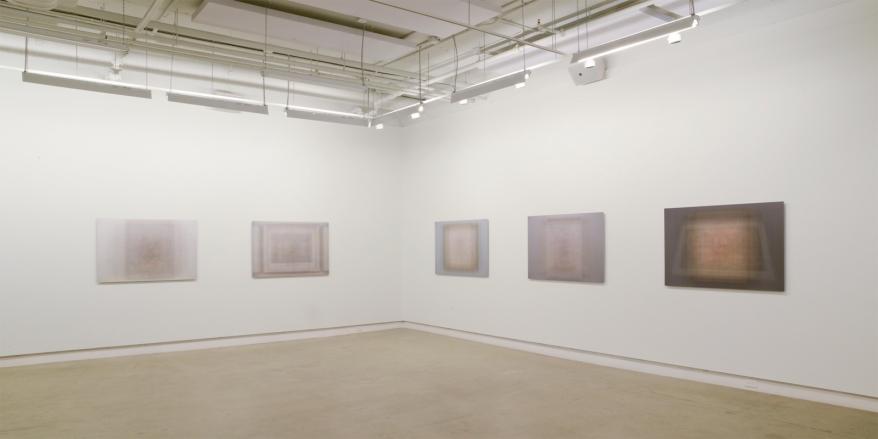 Martin Désilets, vue partielle de l'exposition «Matière noire / L'index» à Occurrence, 2019