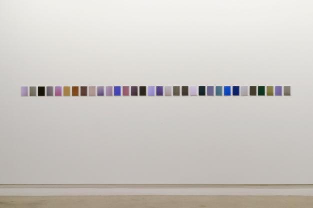 Martin Désilets, «L'index» (extraits), travail en cours, 2016-2019, impression à jet d'encresurpapier Hahnemühle Photo Rag (photographie),32 éléments de 10,2 x 12,7 cm chacun