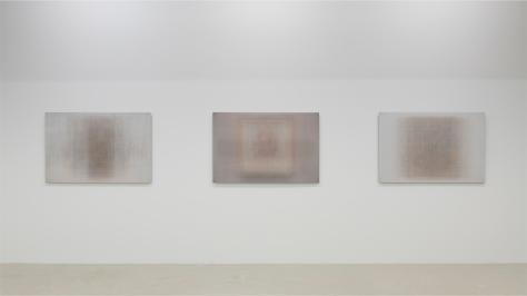 Martin Désilets, Vue partielle de l'exposition «Les tableaux réunis», 2021.